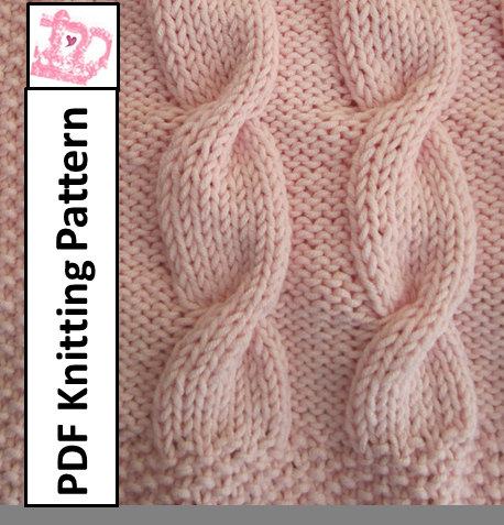 Baby blanket knitting pattern baby cable throwafghanblanket 28 x baby blanket knitting pattern baby cable throwafghanblanket 28 x 36 pdf knitting pattern dt1010fo