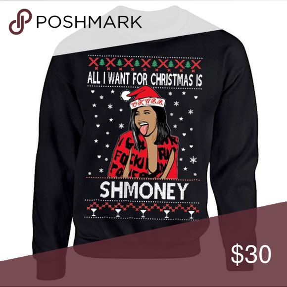 Cardi B Christmas Sweatshirt In 2019 Poshmark Goodies Pinterest