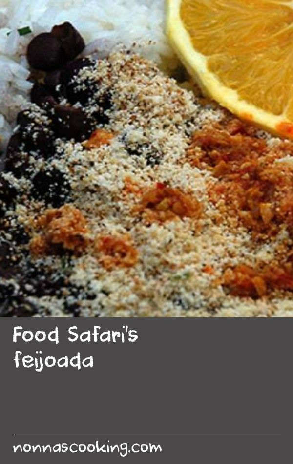 Food safaris feijoada this recipe for the national dish of food safaris feijoada this recipe for the national dish of brazil is made from various kinds of beef and pork which are slow cooked with black beans forumfinder Choice Image