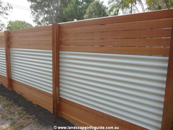 horizontal wood and metal fence.  And Building A Horizontal Plank Fence  Outdoors Home U0026 Garden A Good Mix And Wood Metal R