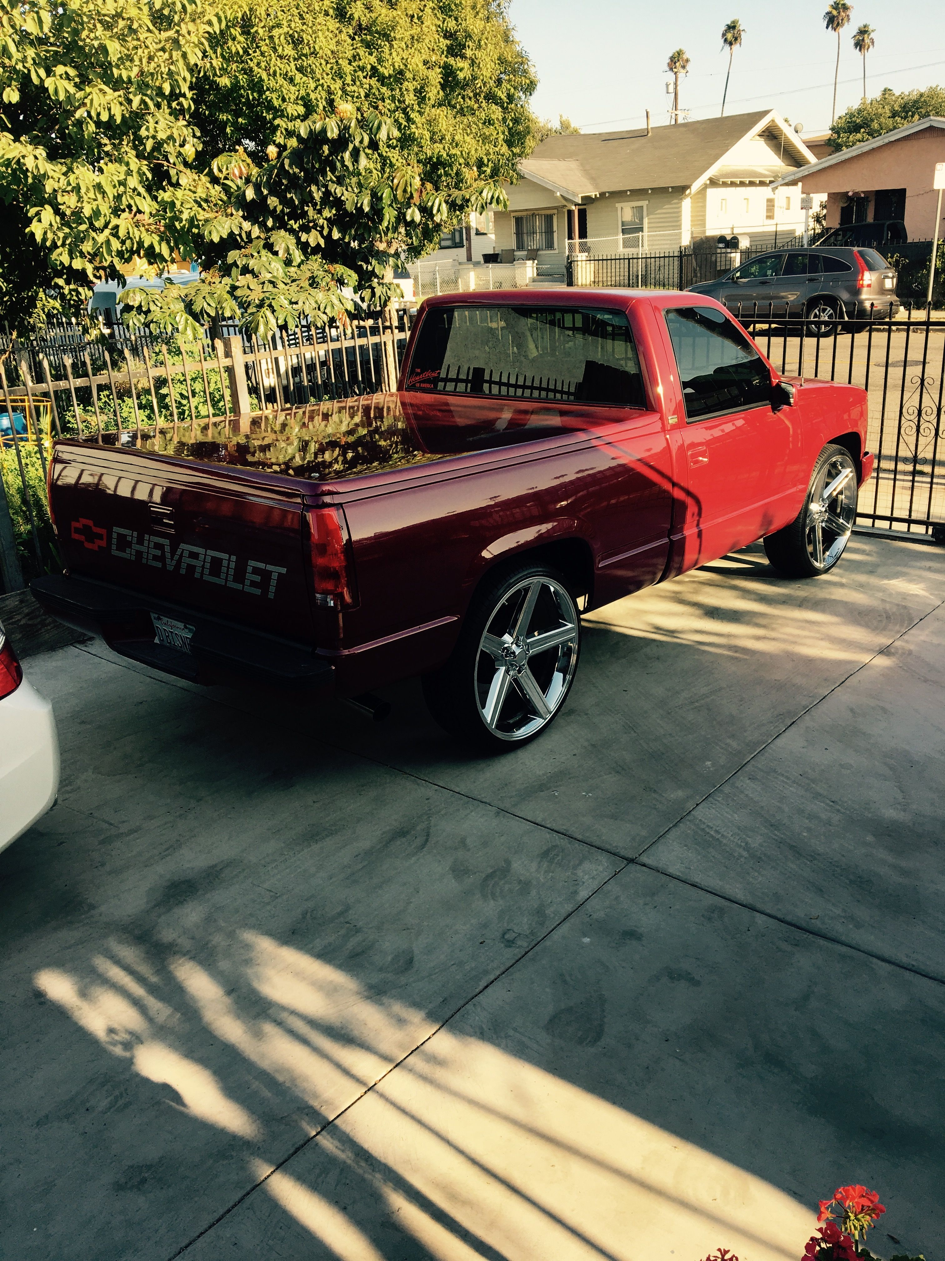 Sitting tall 26's chevy silverado 1989 (With images ...