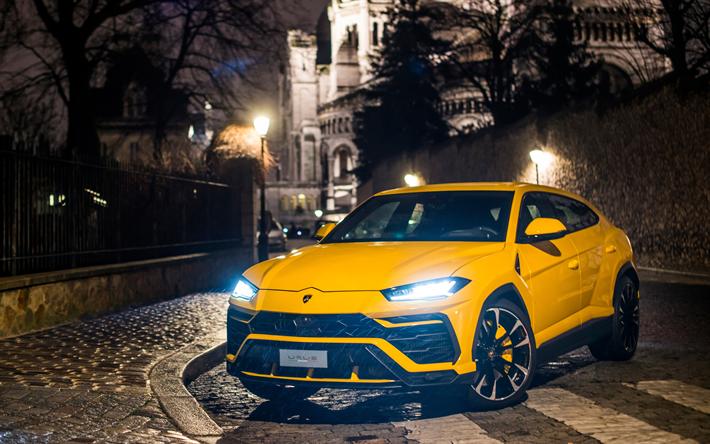 Download Wallpapers Lamborghini Urus 4k Night 2018 Cars