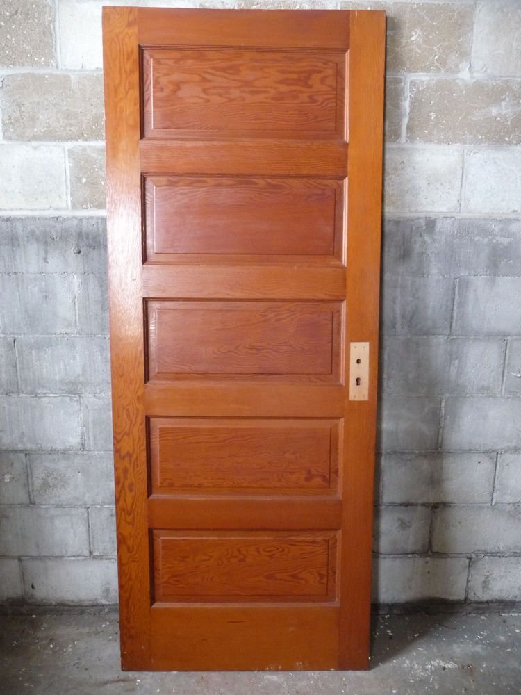 Antique craftsman style interior door circa 1910 fir architectural salvage craftsman style for Antique looking interior doors