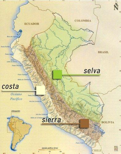 Mapa del Peru