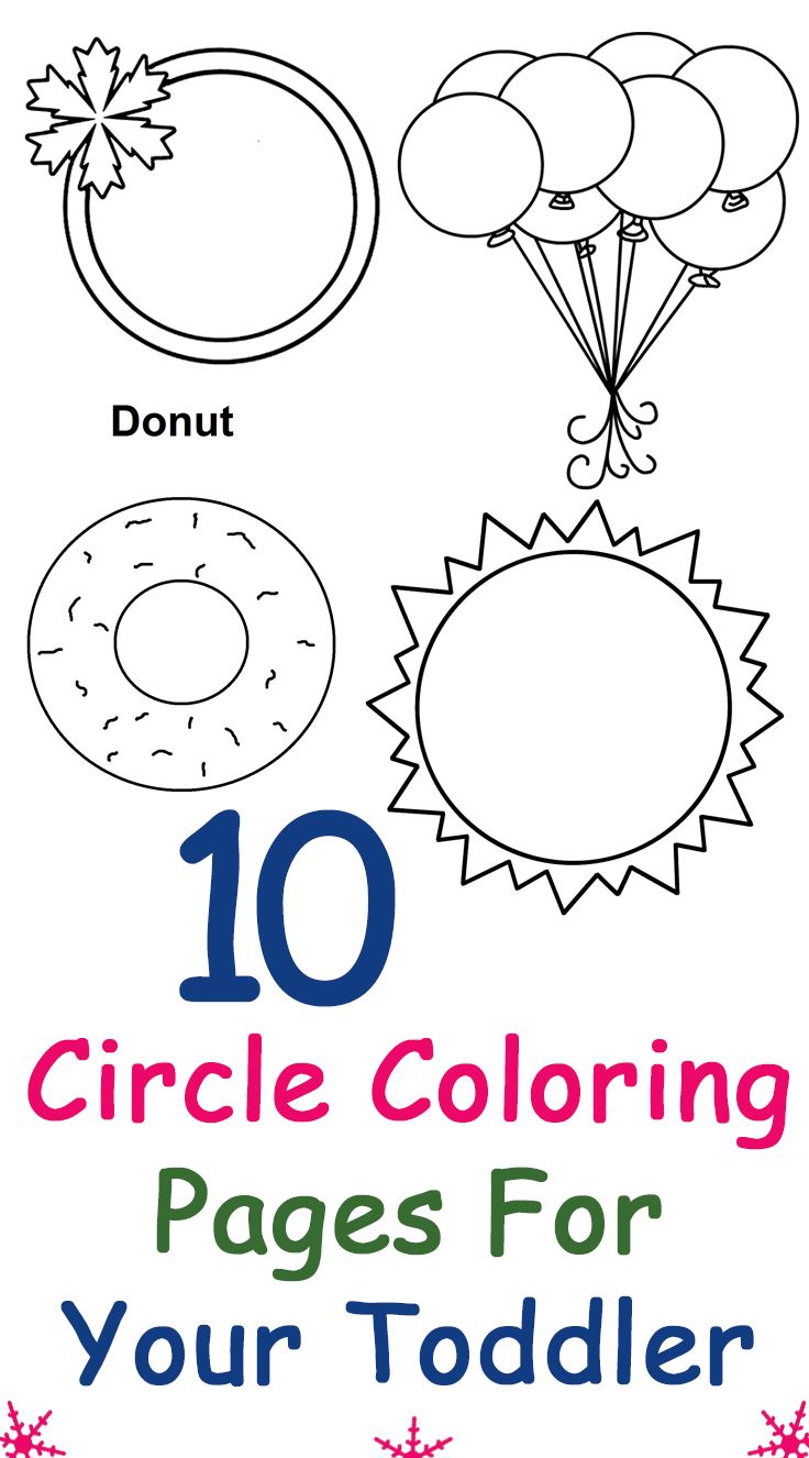 top 10 circle coloring pages for your toddler - Circle Coloring Pages Toddlers