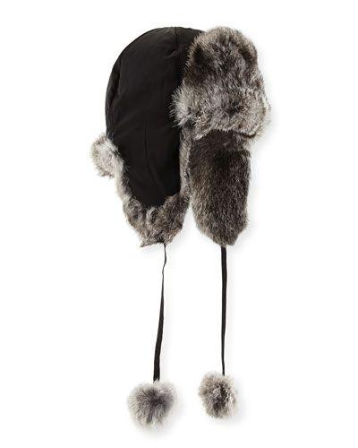 Rabbit Fur Trapper Hat  1672e731e9f8