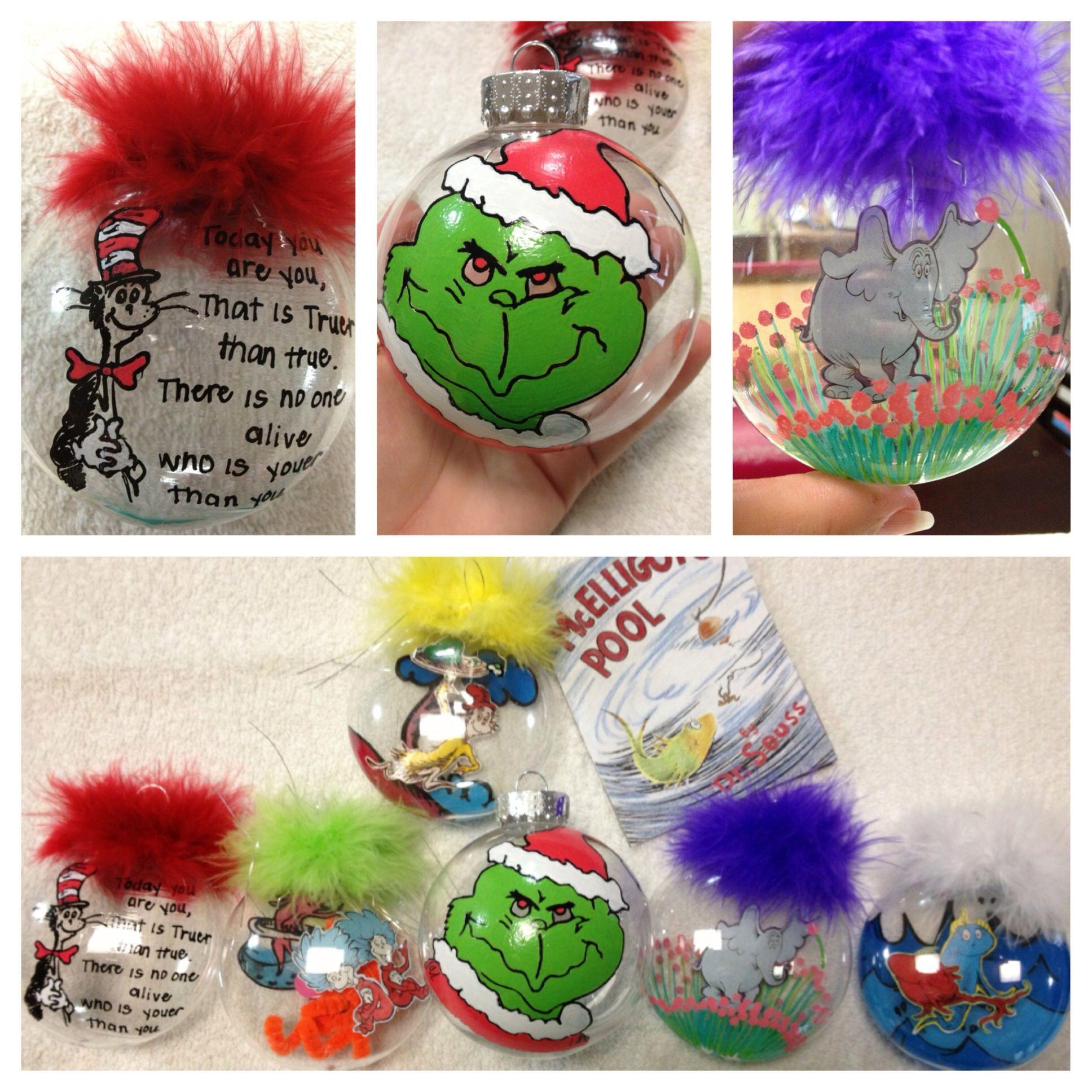 Dr Seuss Christmas ornaments! Whoville christmas