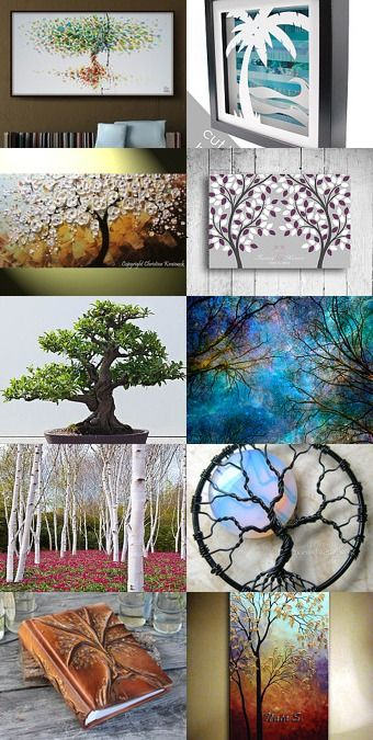 Beautiful Tree Art Beautiful pieces celebrating the love of #trees and #nature #leaves #fall