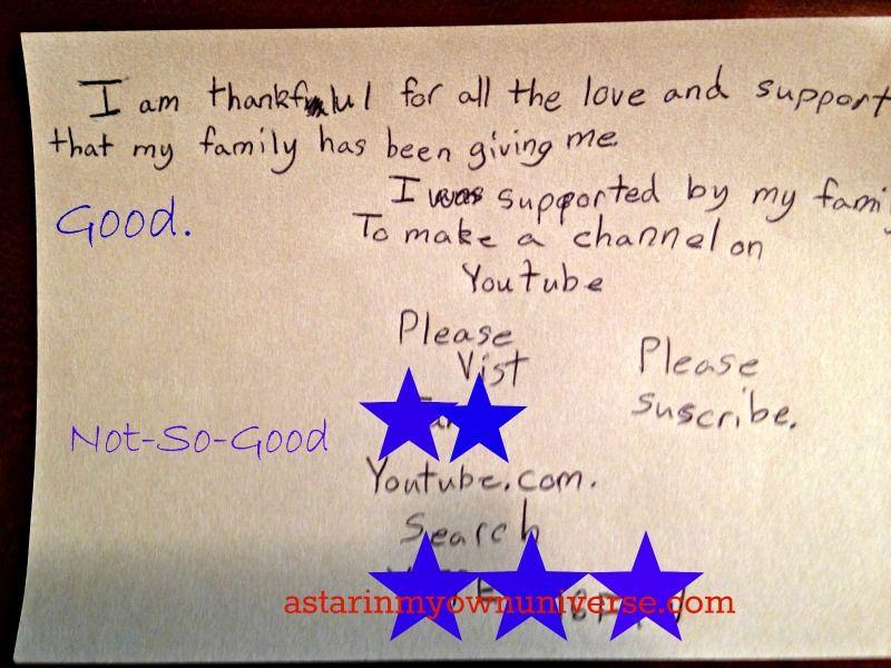My son has a funny sense of gratitude.  http://www.astarinmyownuniverse.com/2014/12/03/wordless-wednesday-112-thankful/ #WW #Thanksgiving