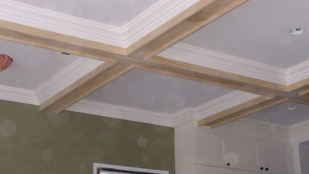 ceiling kit coffered faux coffer design beams treatment image panel ceilings panels