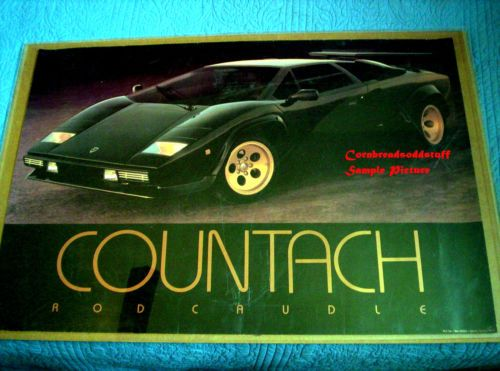 1984 Rod Caudle Lamborghini Countach Poster