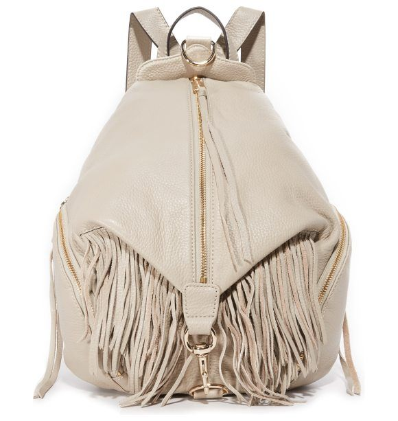 On SALE at 60.00% OFF! fringe julian backpack by Rebecca Minkoff. A pebbled leather Rebecca Minkoff backpack accented with fringe and polished hardware. A back zip pocket and 2 side p...