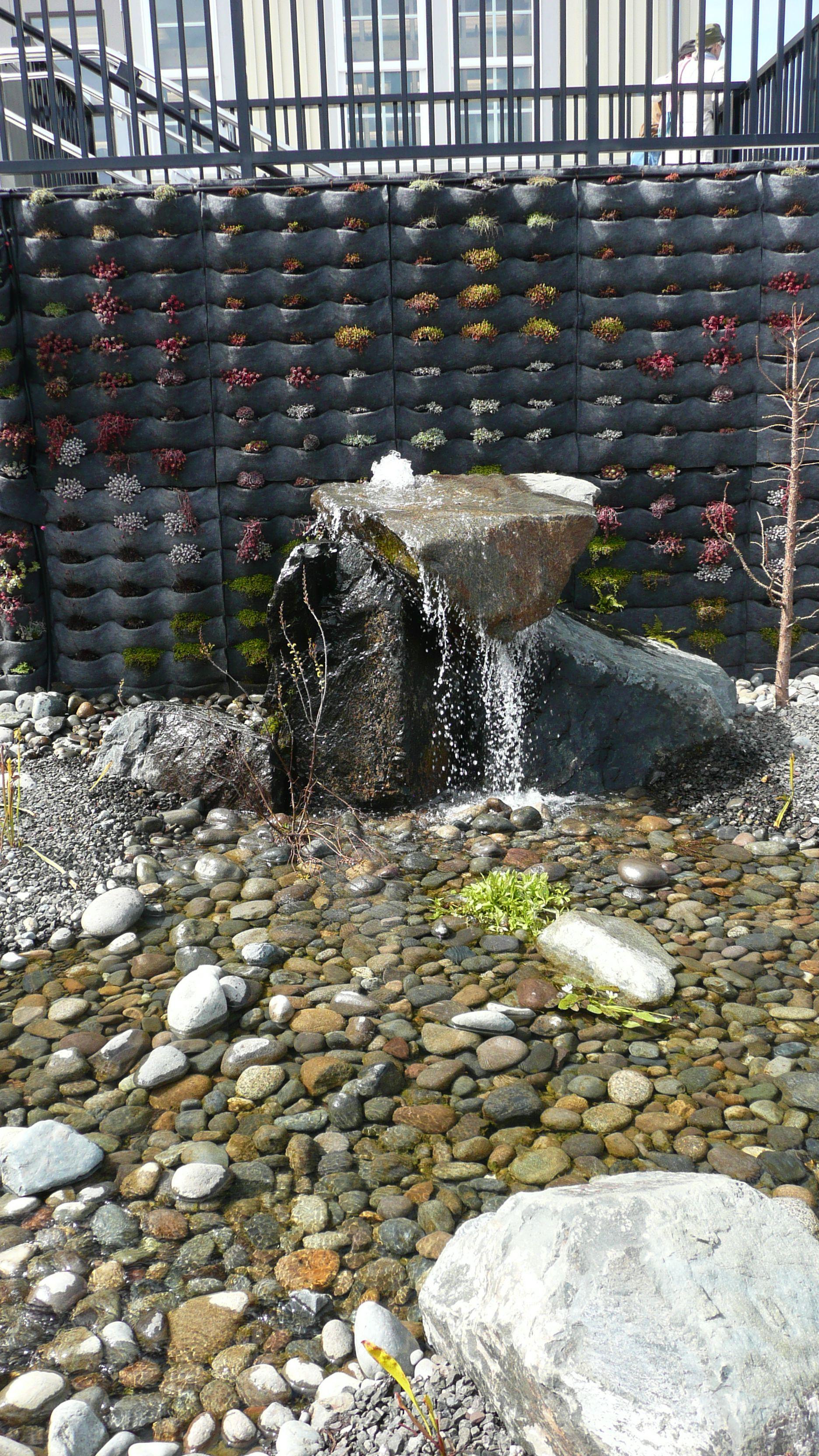 2012-04-15 Gig Harbor downtown waterfall by Ken Rury