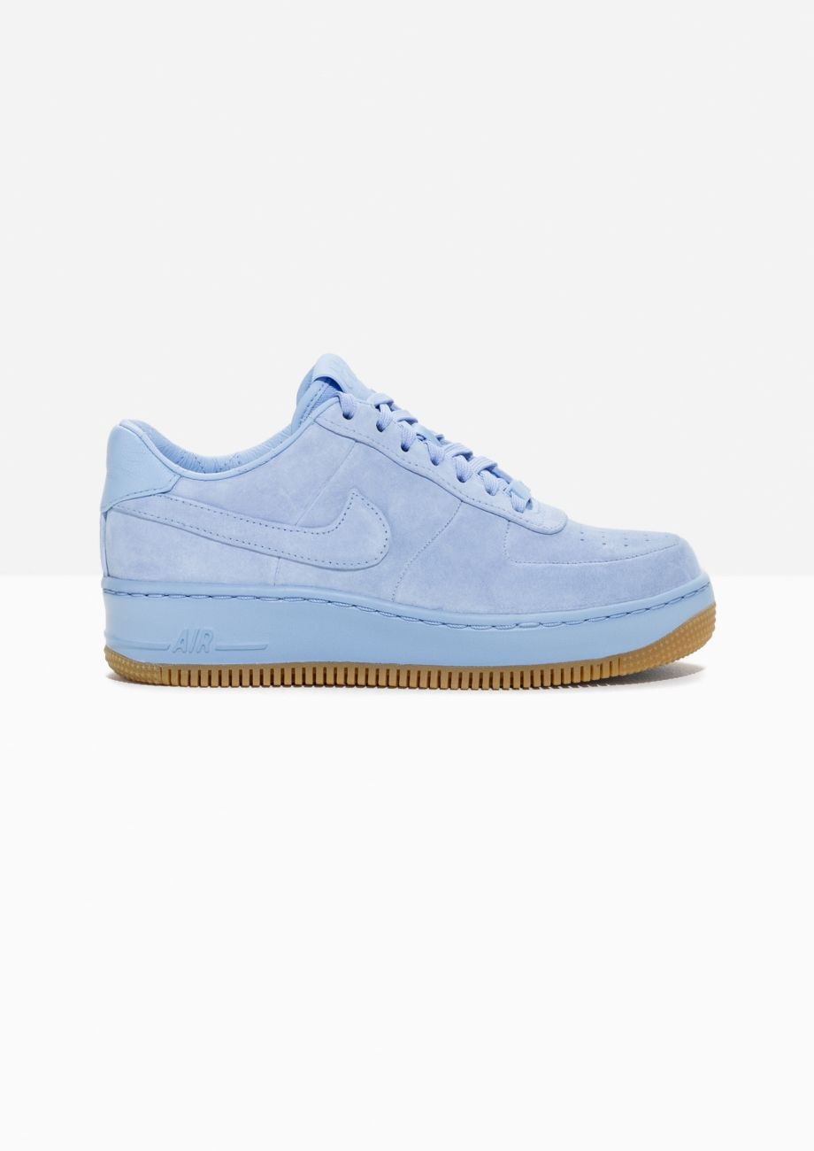 official photos 556aa d7d5f Other Stories image 1 of Nike Air Force 1 Upstep Suede in Blue