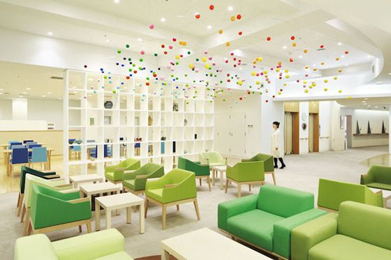 Shinjuen Nursing Home By Emmanuelle Moureaux Architecture + Design. Photo:  Daisuke Shima / Nacasa Part 57