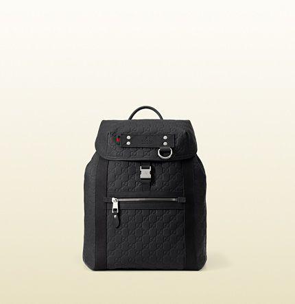 e6d6aef52fd Gucci Official Site – Redefining modern luxury fashion. Gucci  MiehilleNaisten AsusteetKirjekuorilaukut. guccissima rubberized leather  backpack