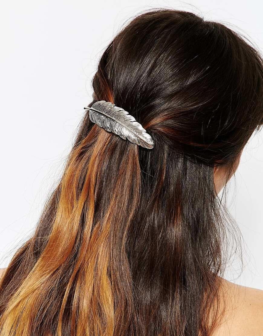 Imagen 1 de Pasador para el pelo con hoja grande de ASOS 227367b5b996