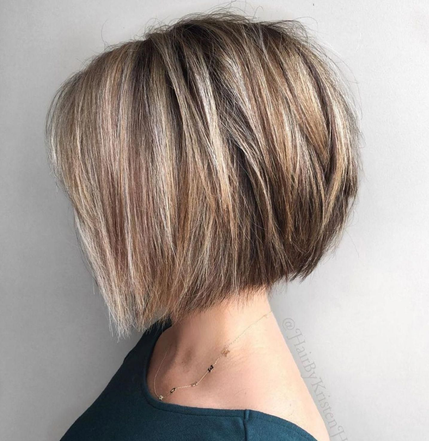 Angled Choppy Bob For Straight Thick Hair Shortbobhairstyles Short Hairstyles For Thick Hair Thick Hair Styles Bob Hairstyles For Thick