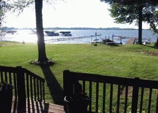 Knox 3 Br Lake Front Vacation Rental Home Bass Lake Indiana 3bd 2bath Directly On Lake Id 139087 Perfectplaces Com Bass Lake Indiana Bass Lake Vacation