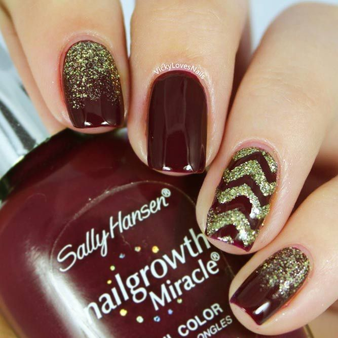 21 Fashionable Maroon Nails Designs to Complete Your Image | Maroon ...