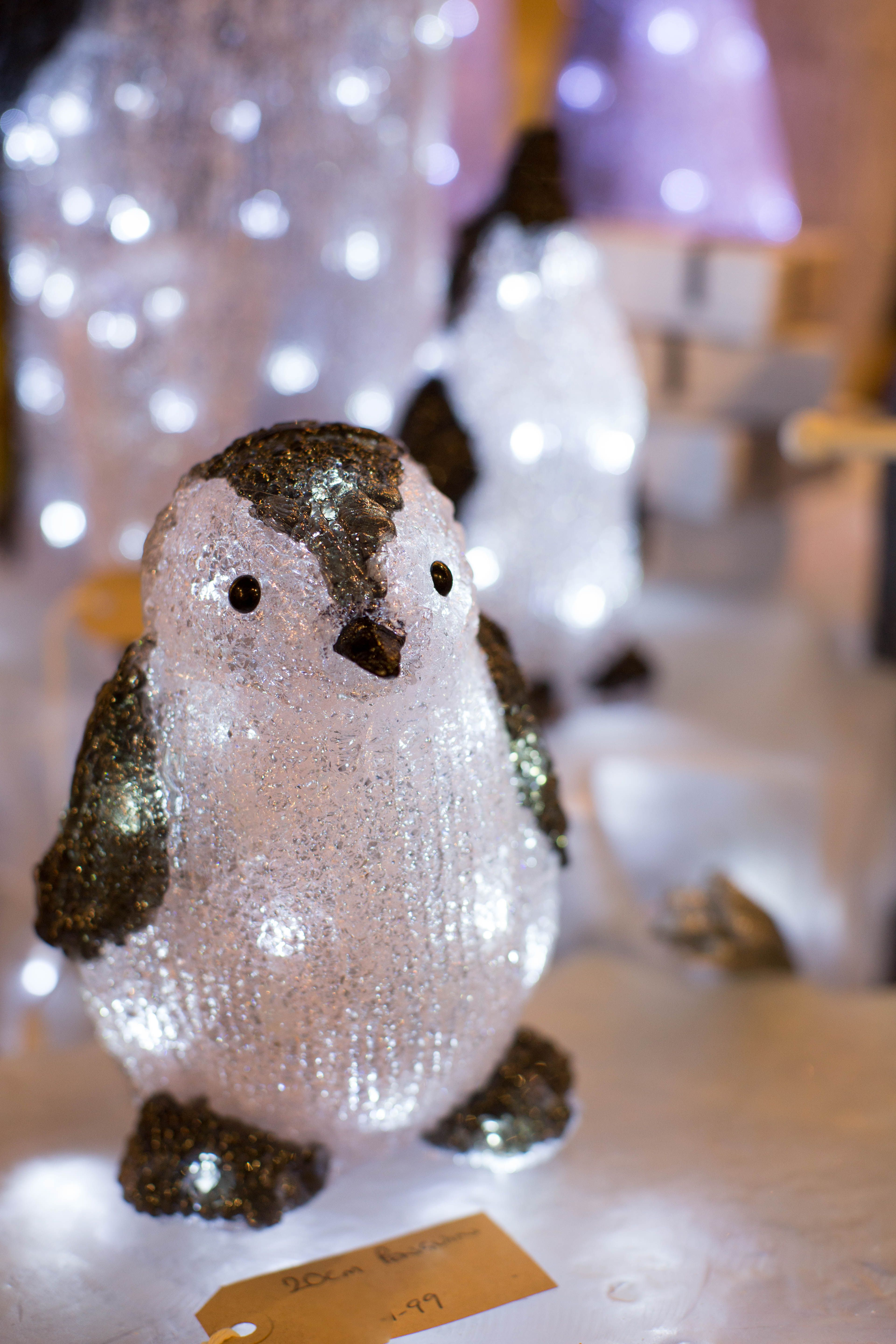 Will you be my friend this Christmas? Penguin light up decoration in The Barn at The Hollies :)