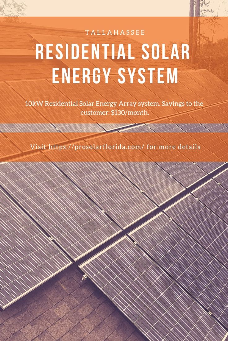 Tallahassee Residential Solar Energy System Solar Energy Residential Solar Solar Energy Solutions