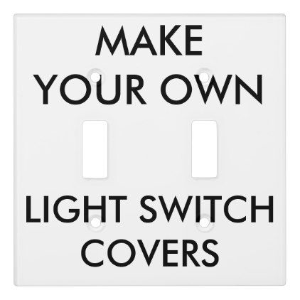 custom double toggle surround light switch cover templates cyo