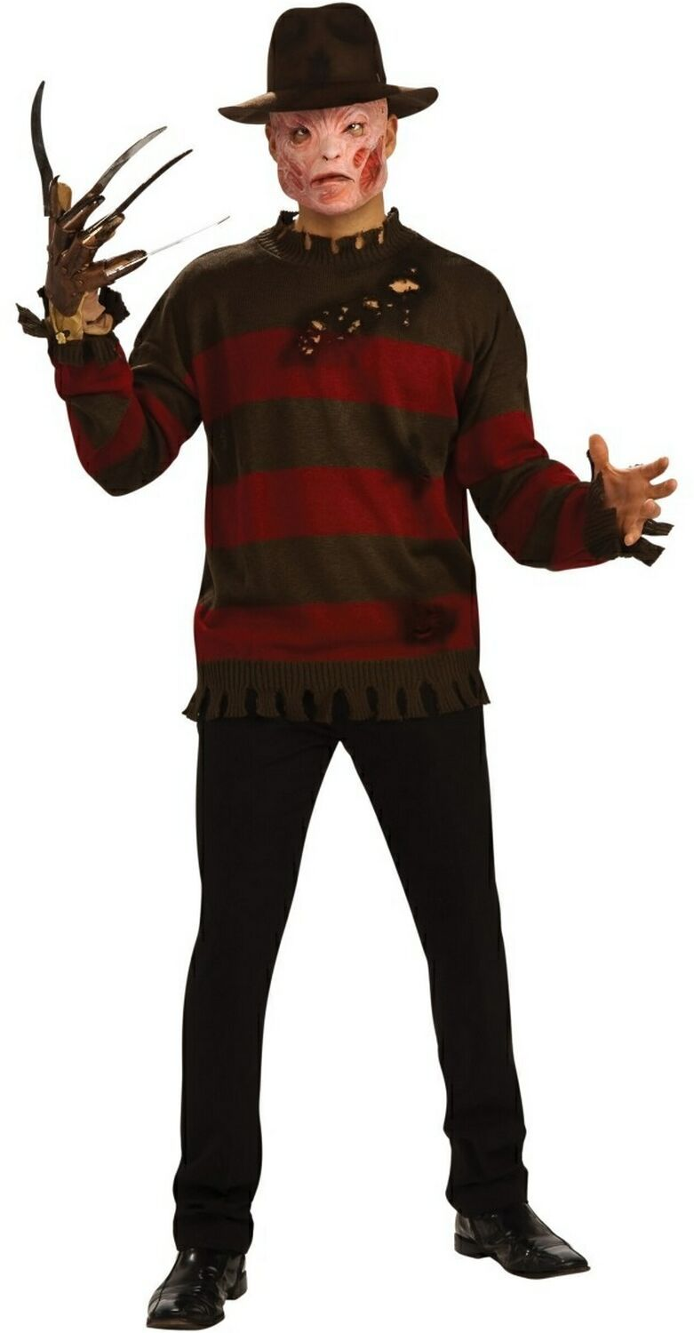 adult freddy krueger sweater costume | scary movie costumes