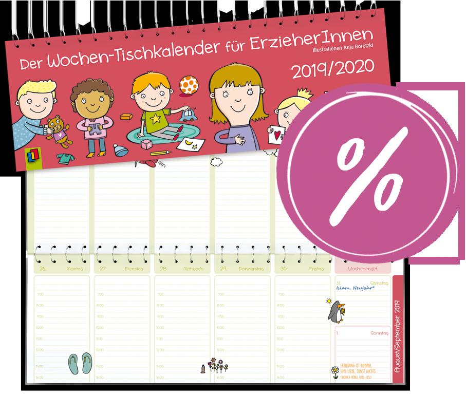 Der Wochen Tischkalender Fur Erzieherinnen 2019 2020 Tischkalender Kalender Erzieherin