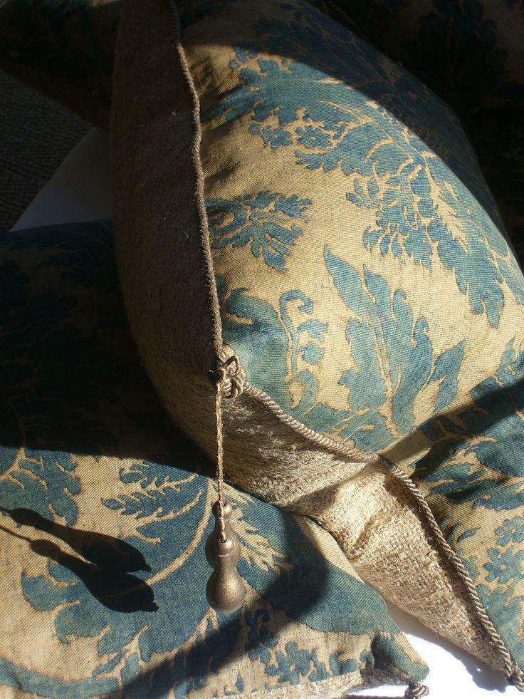 Silk Burlap Fortuny Pillows