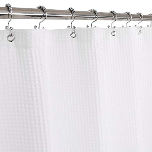 Amazon Com Barossa Design Cotton Shower Curtain Honeycomb Waffle Weave Hotel Collection Spa In 2020 Fabric Shower Curtains Farmhouse Shower Curtain Farmhouse Shower
