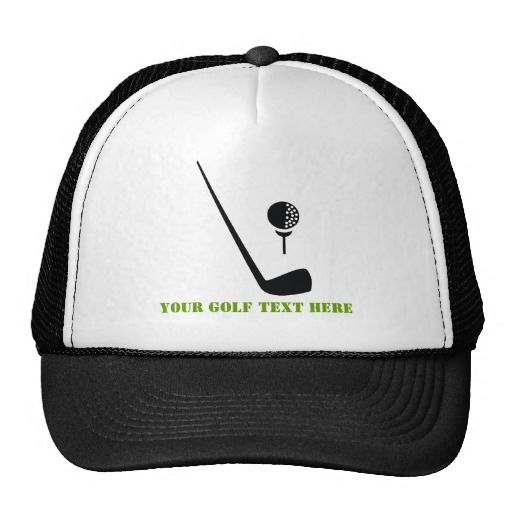 Golf Club And Ball Black Green Custom Trucker Hat Zazzle Com Custom Trucker Hats Trucker Hat Hats