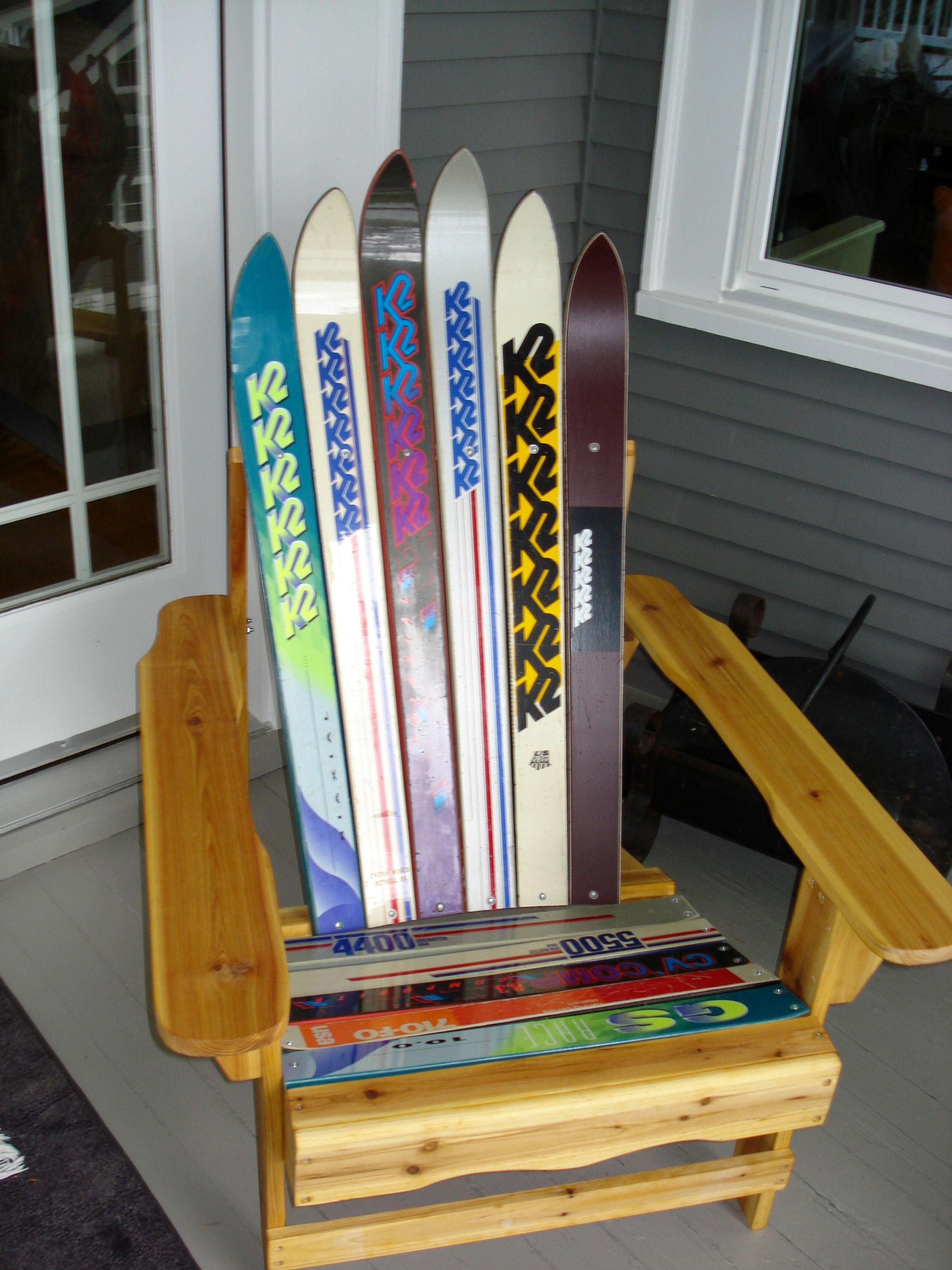 Genial A Adirondack Chair Kit With Family Skis Used   Skis Are Tough On Saw Blades!