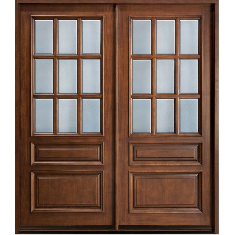 Glass Panel Double Door Hpd170   Glass Panel Doors   Al Habib Panel Doors Part 61