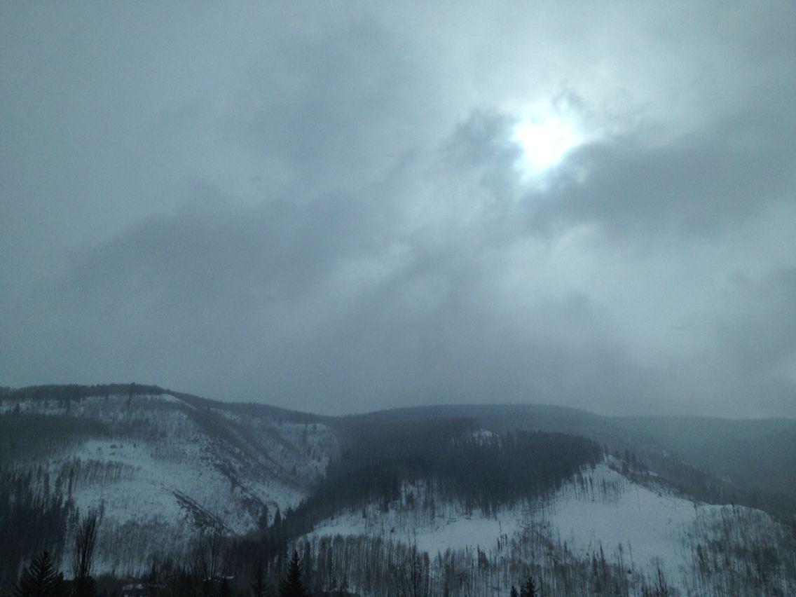 Fog and sun in Colorado