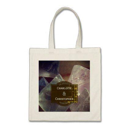 fluorite gemstone personalized wedding tote bag accessories