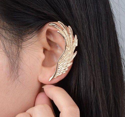 Men Women Summer Punk Wing Shape Stud Earring Vintage Jewelry Ear Cuff Clips