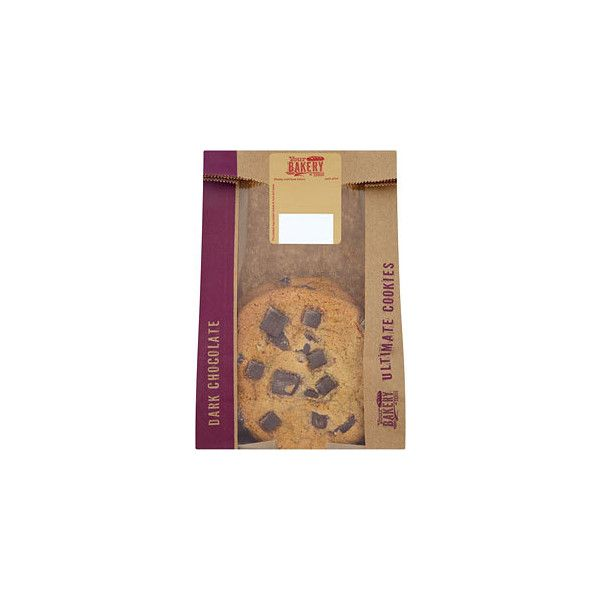 Tesco Dark Chocolate Chunk Cookie (6,39 BRL) ❤ liked on Polyvore featuring food and filler