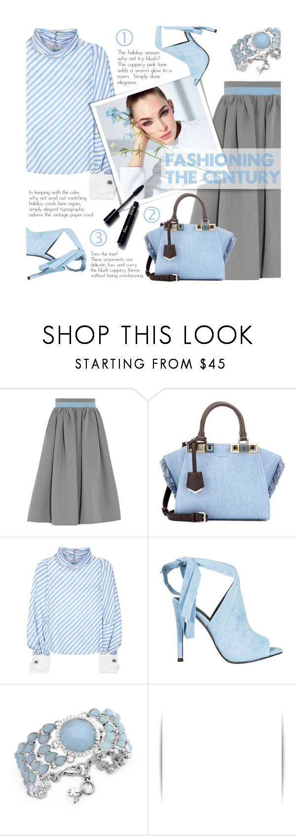 """Fashioning the century"" by xiandrina ❤ liked on Polyvore featuring Preen, Fendi, Monse, Kendall + Kylie and Lucky Brand"