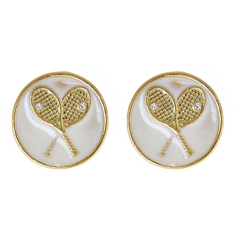 Enamel Tennis Earrings @fornash