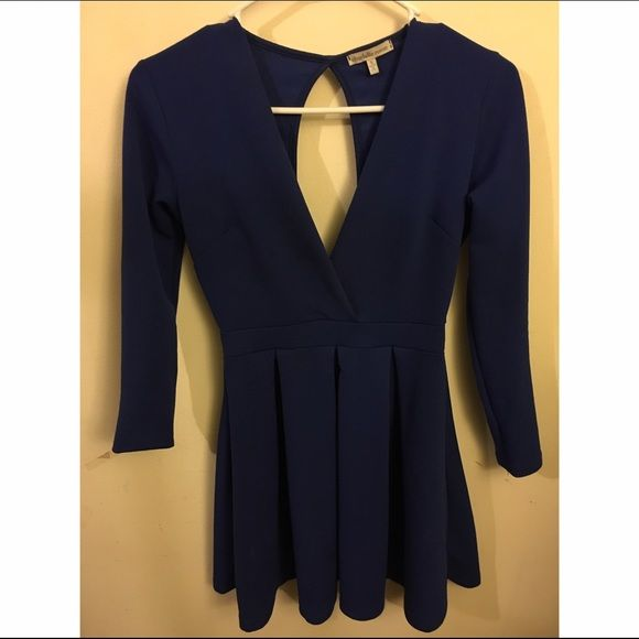 Blue low neck skater dress Cute low neck skater dress Charlotte Russe Dresses Mini