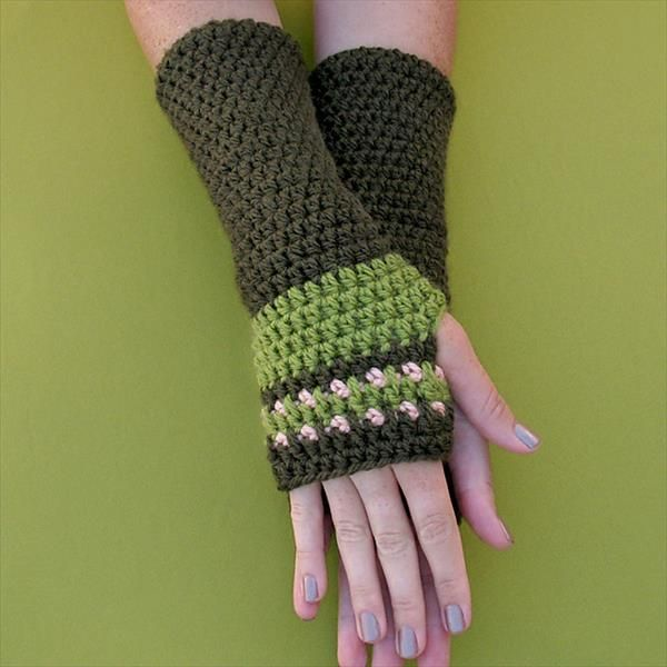 Free Crochet Arm Warmers Luvas Pinterest Crochet Arm Warmers