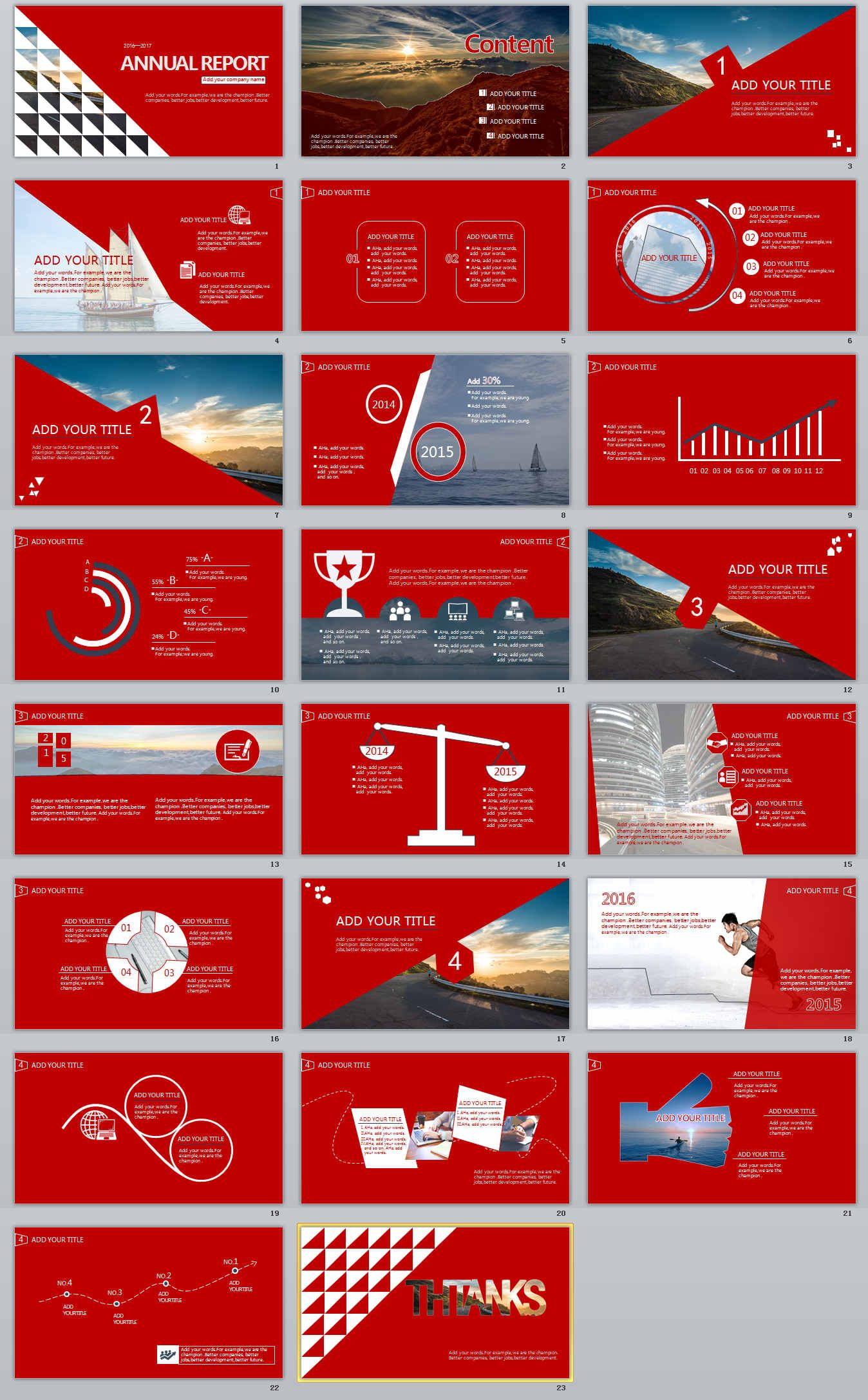 Annual Professional Powerpoint Template Download  The Highest