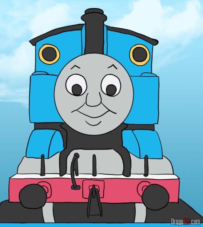 How To Draw Thomas The Tank Engine Thomas The Train Birthday Party Thomas The Tank Trains Birthday Party