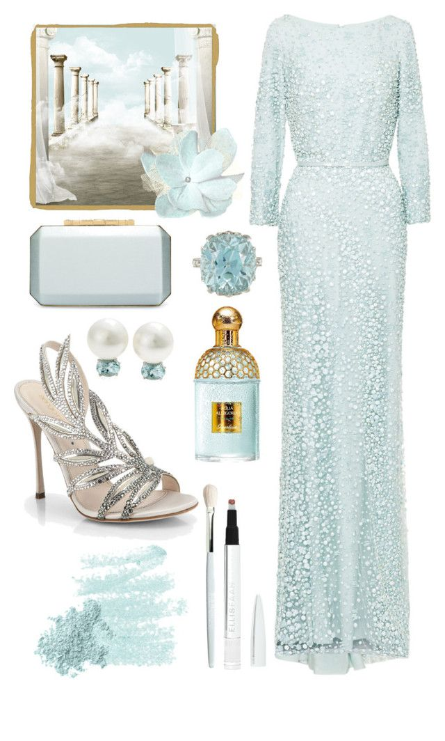 """Angelica"" by laurenjane47 ❤ liked on Polyvore featuring Elie Saab, Oscar de la Renta, MUNNU The Gem Palace, Buccellati, Sergio Rossi, Guerlain, Bare Escentuals, Trish McEvoy, Ellis Faas and women's clothing"