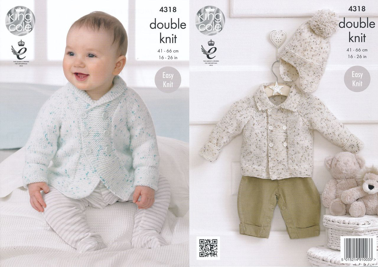 King cole double knitting pattern baby jackets hat 4318 king cole double knitting pattern baby jackets hat 4318 bankloansurffo Choice Image
