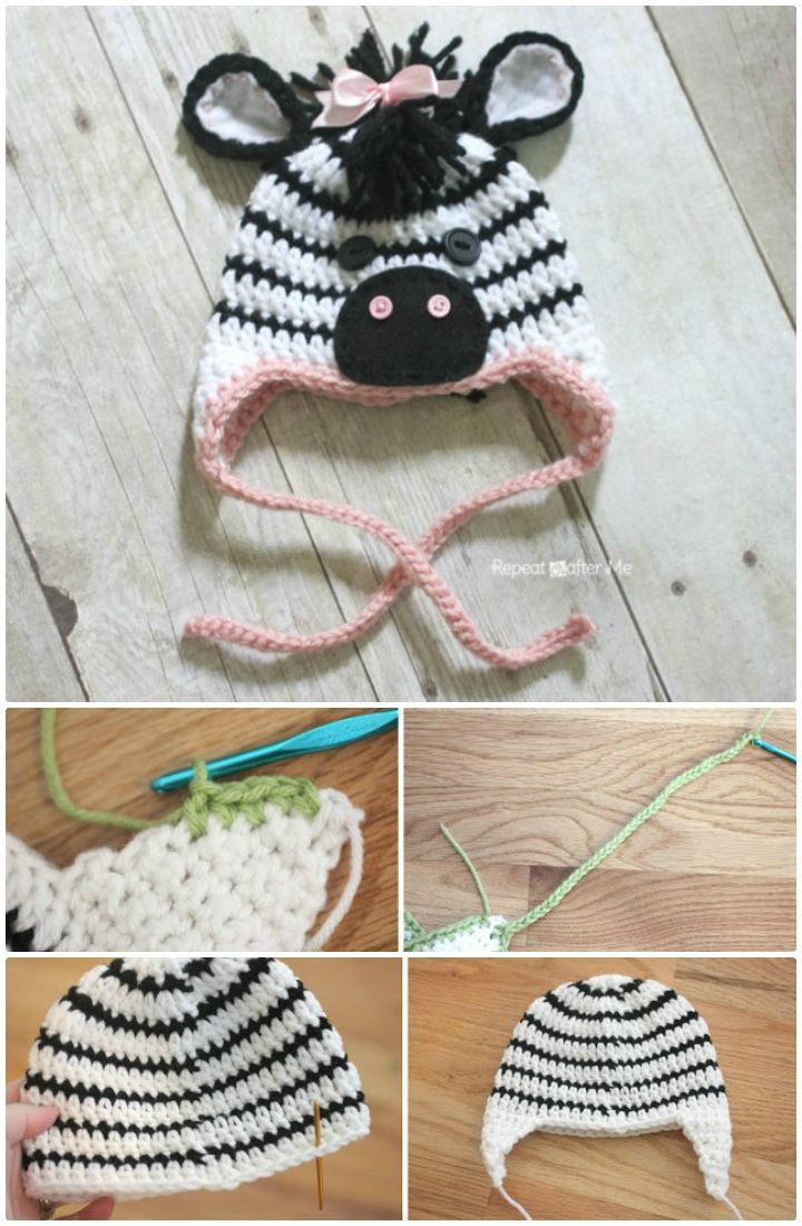 26 Free Crochet Zebra Patterns / Hat, Blanket, Amigurumi | Pinterest ...