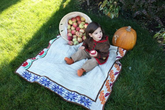 ORGANIC SEASONS BLANKET 4 Seasons 3 Sizes by LittleLambyKnits