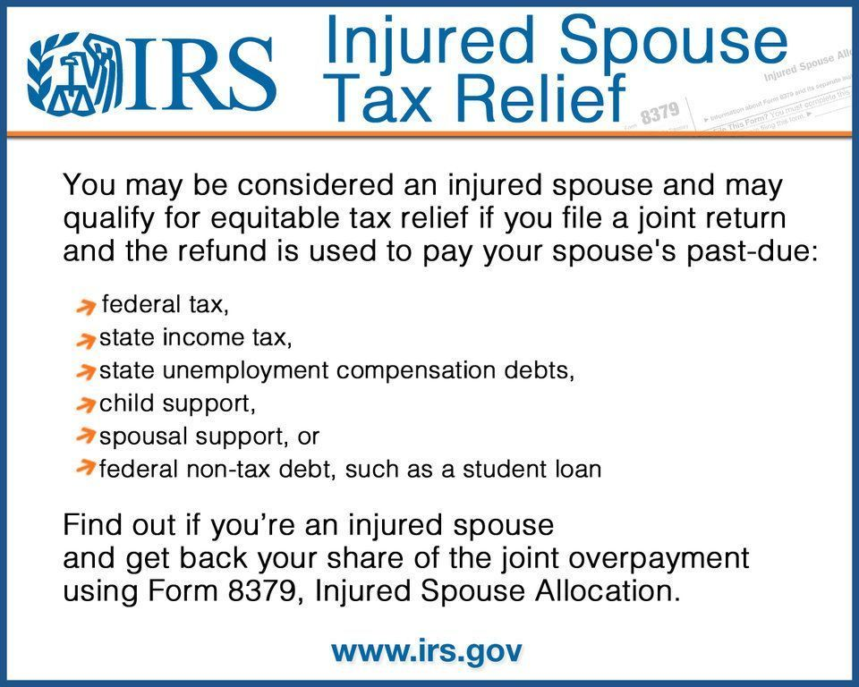 You may be an injured spouse if you file a joint t Help With