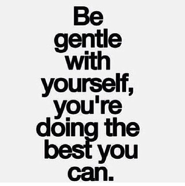 Be gentle..